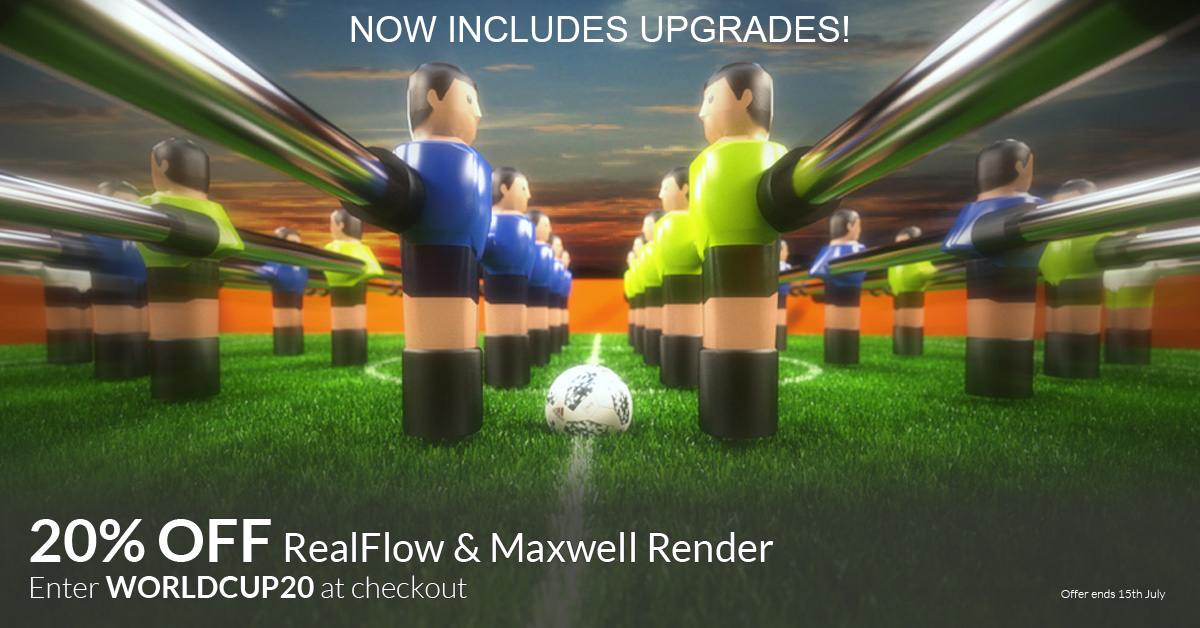 RealFlow Maxwell Render Offer